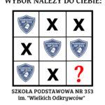 łamigłówka sugerująca, że najlepszy wybór szkoły podstawowej to szkoła nr 353 w Warszawie